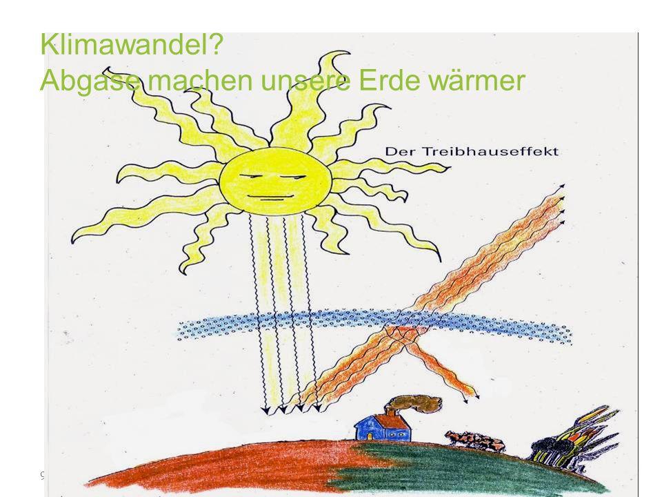 9 www.klimabuendnis.at Klimawandel? Abgase machen unsere Erde wärmer
