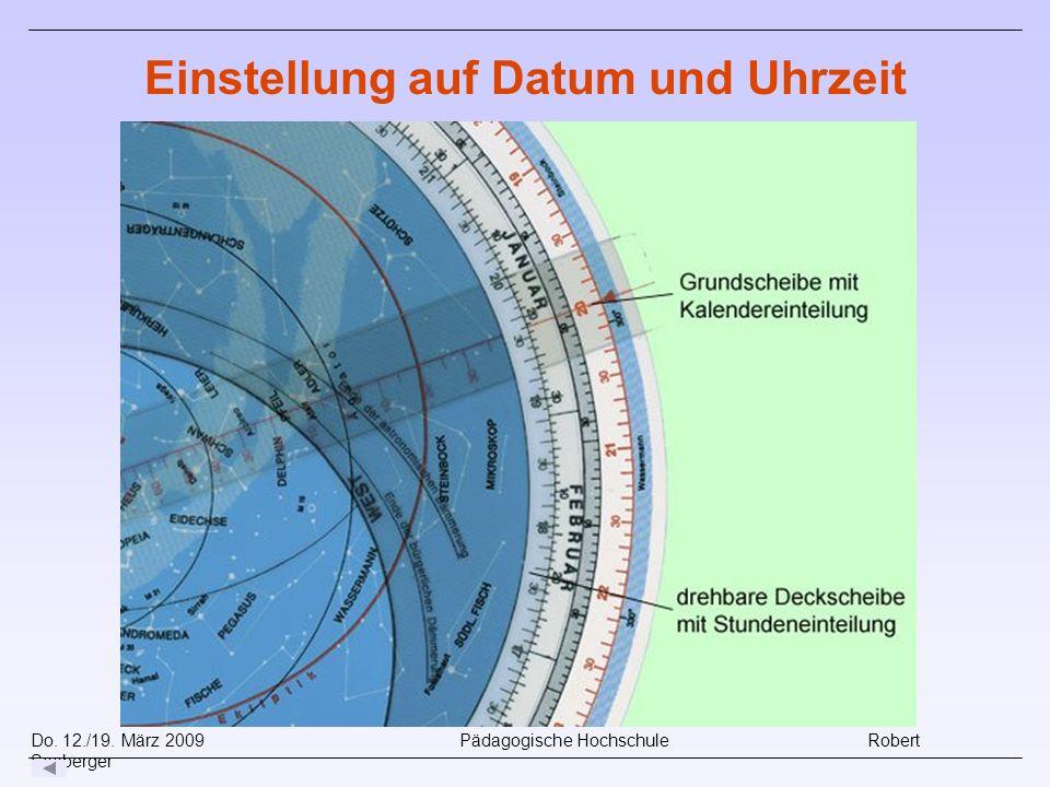 Do. 12./19. März 2009 Pädagogische Hochschule Robert Seeberger Einstellung auf Datum und Uhrzeit