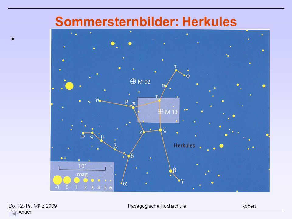 Do. 12./19. März 2009 Pädagogische Hochschule Robert Seeberger Sommersternbilder: Herkules