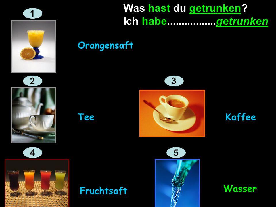 Ferien Und was hast du getrunken? Ich habe Orangensaft getrunken.