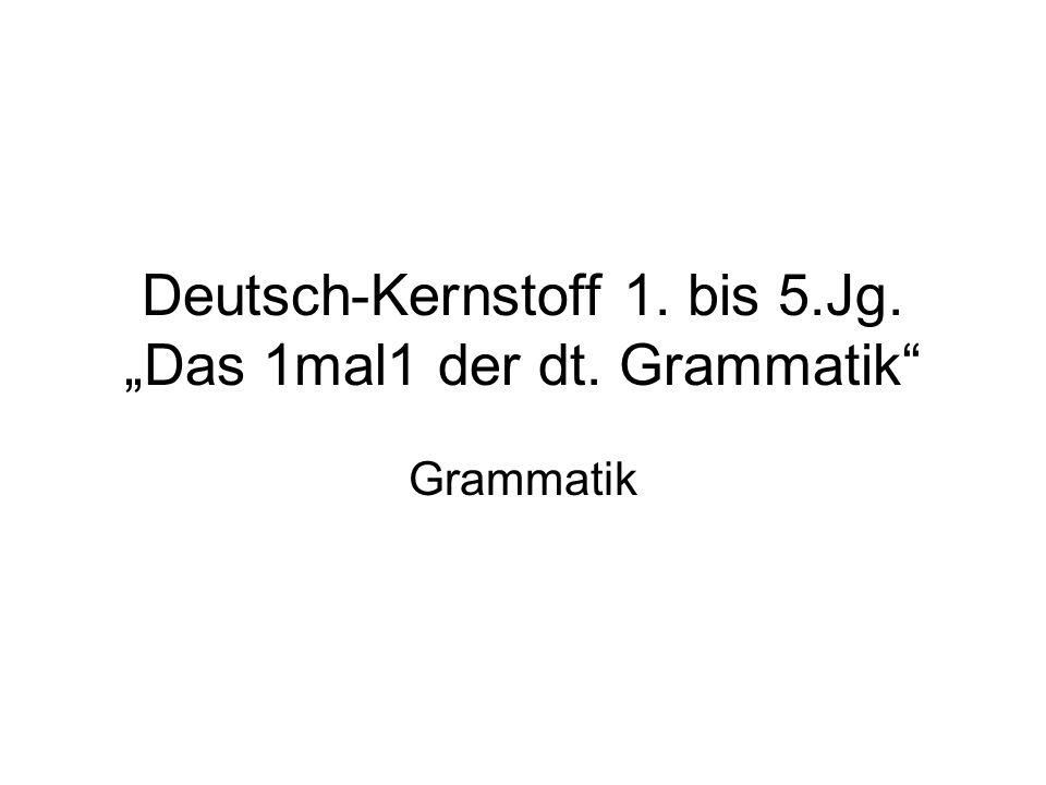 Deutsch-Kernstoff 1. bis 5.Jg. Das 1mal1 der dt. Grammatik Grammatik