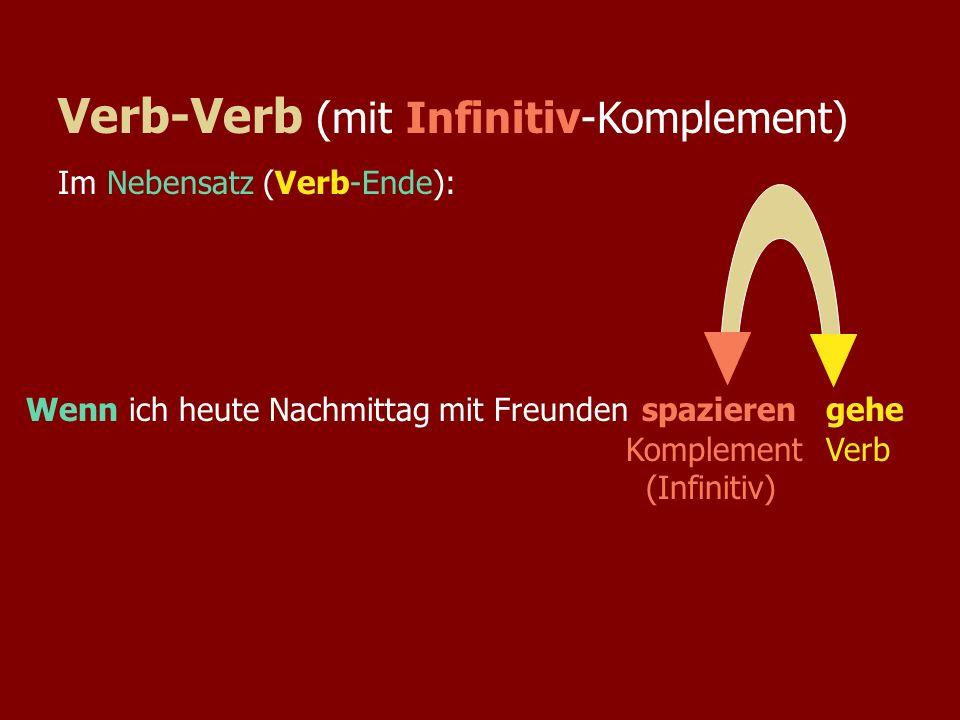 Hauptsatz (Verb #2...Kompl)Nebensatz (....Kompl + Verb-Ende) Ich komme nicht zu Ullas Fete,...