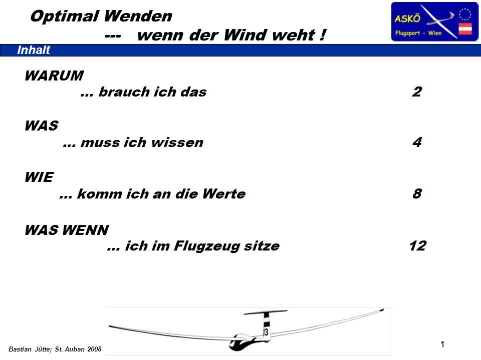 1 Bastian Jütte; St. Auban 2008 WARUM … brauch ich das 2 WAS … muss ich wissen 4 WIE … komm ich an die Werte 8 WAS WENN … ich im Flugzeug sitze12 Inha