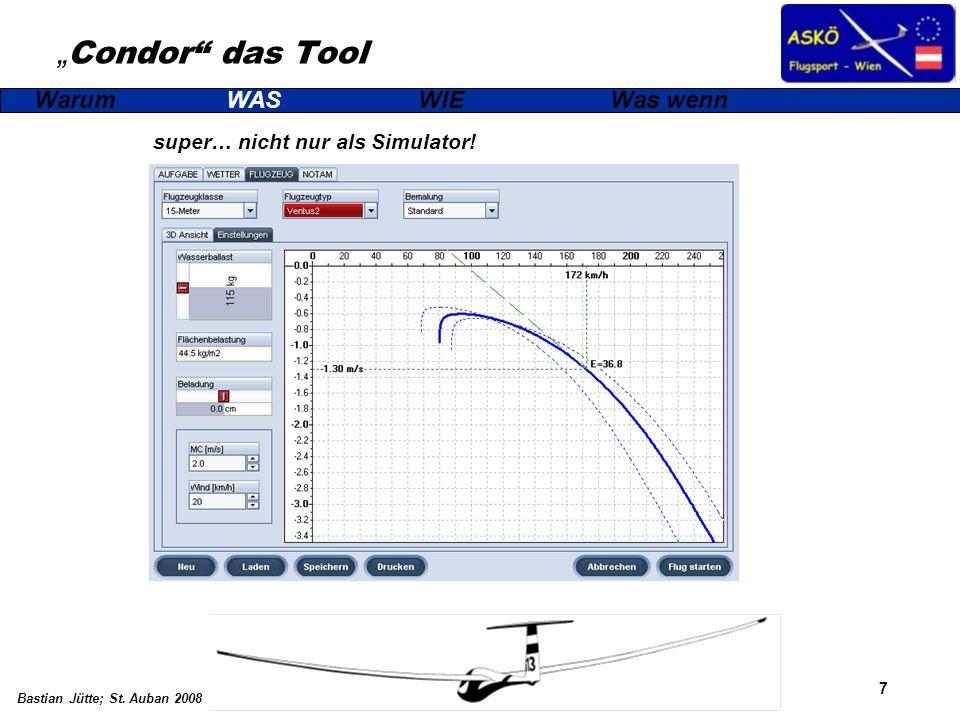 7 Bastian Jütte; St. Auban 2008 Condor das Tool super… nicht nur als Simulator! WarumWASWIEWas wenn