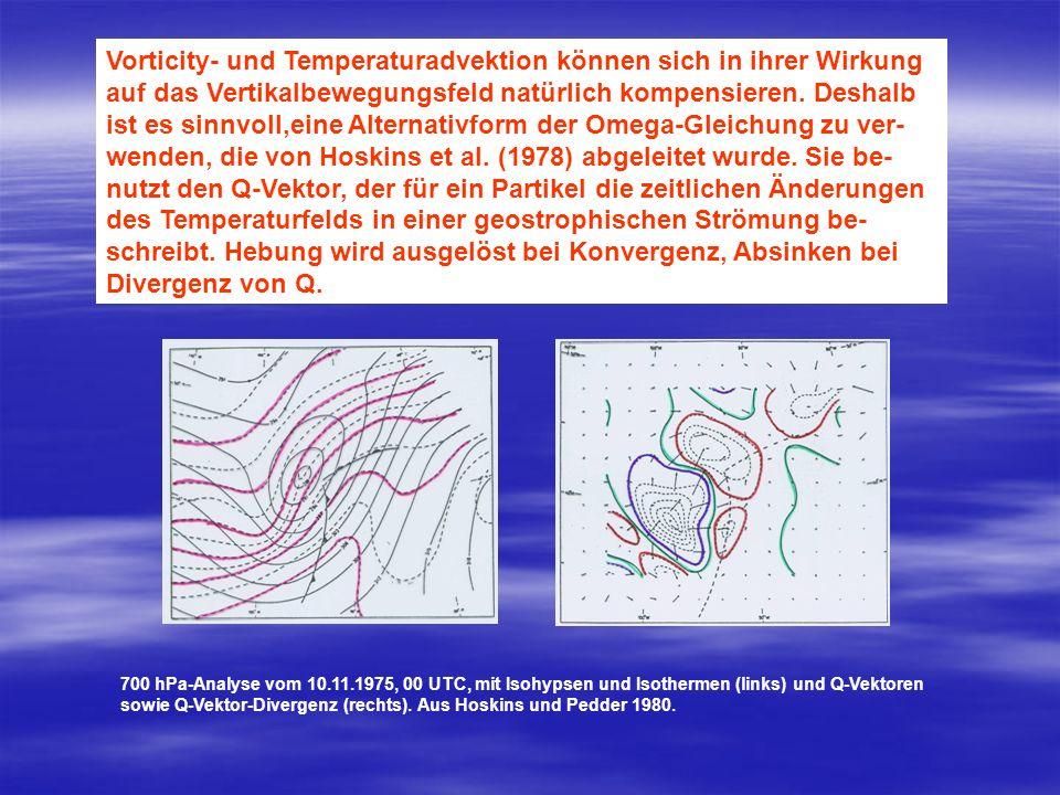 Vorticity- und Temperaturadvektion können sich in ihrer Wirkung auf das Vertikalbewegungsfeld natürlich kompensieren. Deshalb ist es sinnvoll,eine Alt