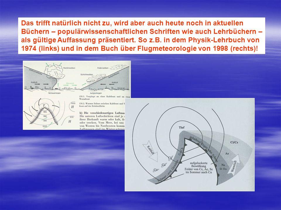 Lebenslauf einer Polarfrontzyklone mit Bodenfronten und Stromlinien des geostrophischen Winds in Boden- nähe.