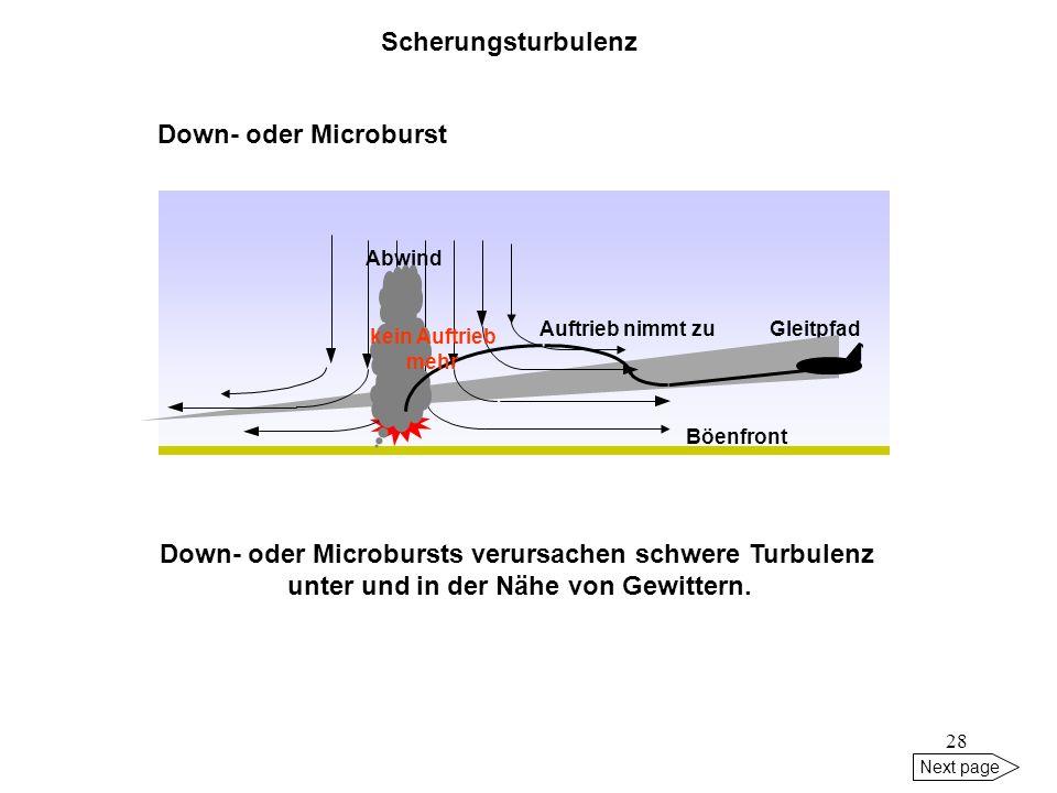 27 Next page Empfehlungen ( neben vorgeschriebener Horizontalstaffelung): Streckenflug: in oder über Level eines vorausfliegenden schweren Lfz fliegen