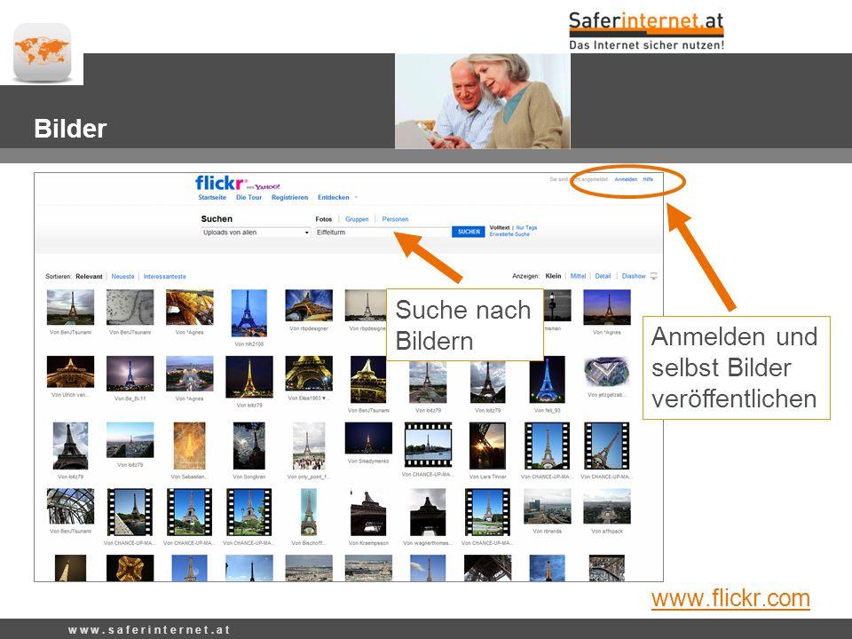 Anmelden und selbst Videos veröffentlichen w w w.s a f e r i n t e r n e t.
