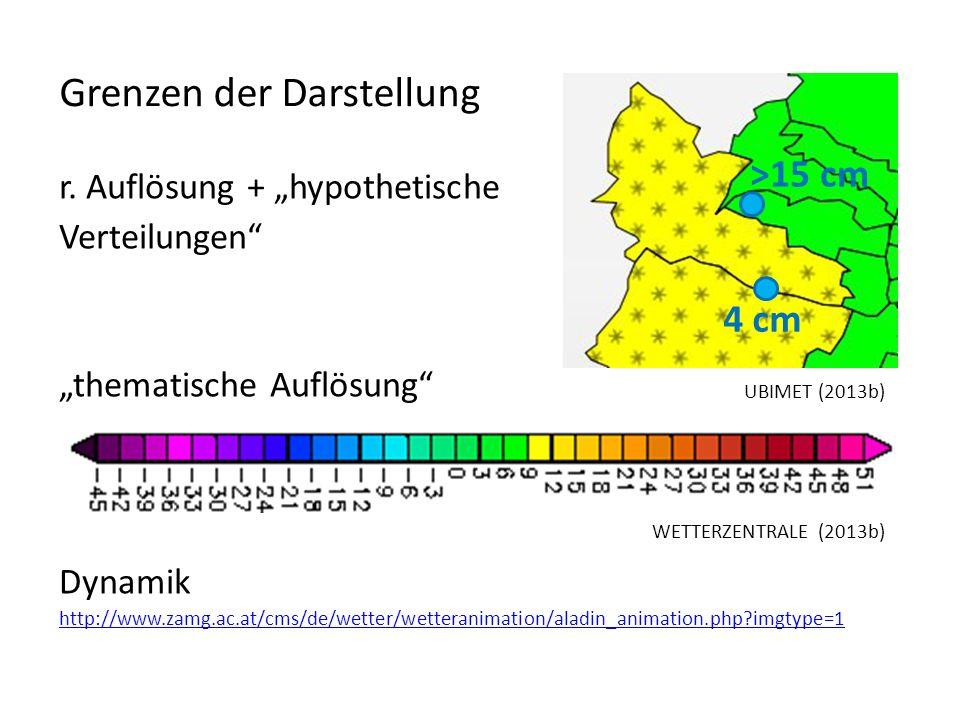r. Auflösung + hypothetische Verteilungen thematische Auflösung Dynamik http://www.zamg.ac.at/cms/de/wetter/wetteranimation/aladin_animation.php?imgty