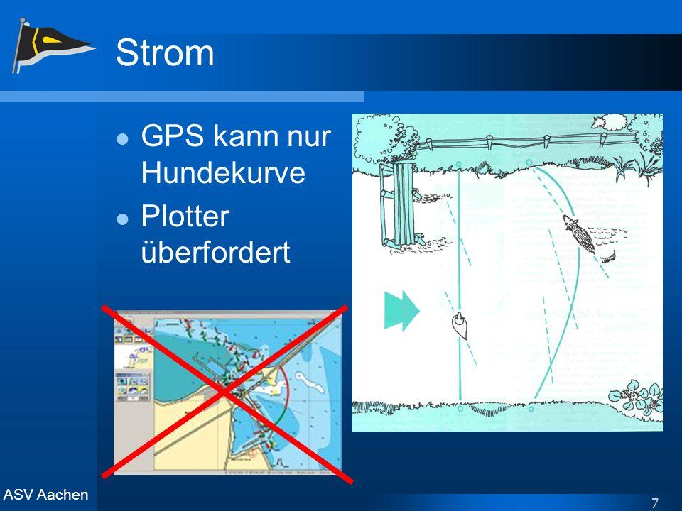 ASV Aachen 7 Strom GPS kann nur Hundekurve Plotter überfordert