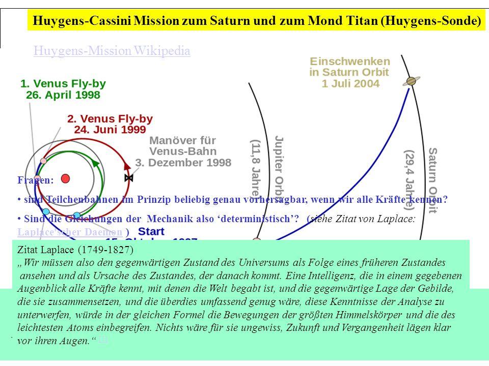 Leitthema: Wie gut lassen sich Teilchenbahnen vorhersagen? Determinismus, Chaos und Unschärfe die präzise Vorhersage von Teilchenbahnen (mechanischer