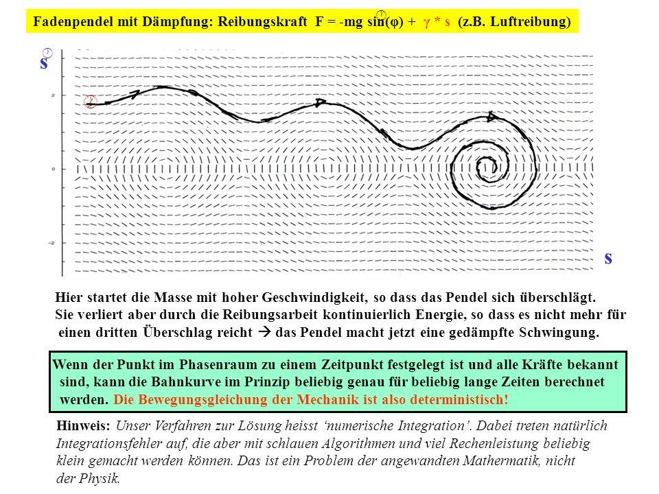 Der Nutzen von Näherungen und von analytischen vollständigen Lösungen In den Grundvorlesungen werden numerische Lösungen im Phasenraum i.A.