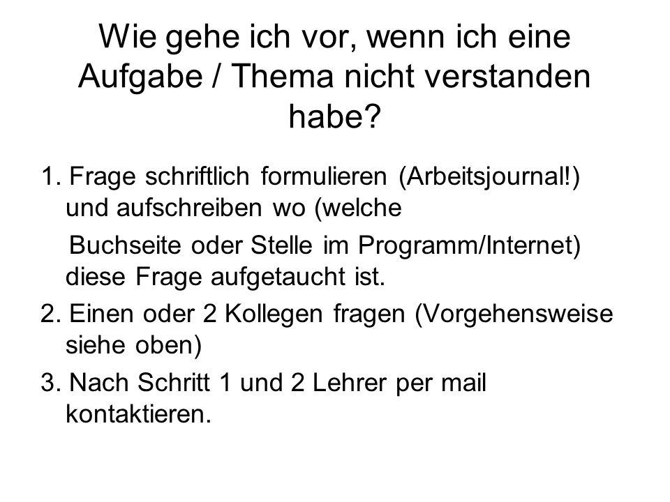 Lernziele Grundlagenfach GG Rm Lernziele für die 1.