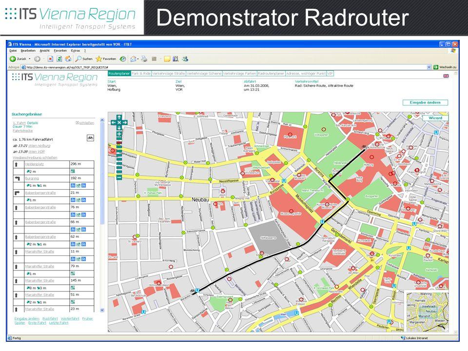 Demonstrator Radrouter
