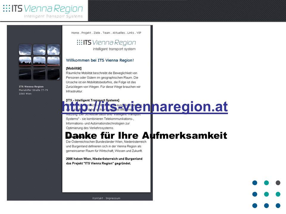 http://its-viennaregion.at Danke für Ihre Aufmerksamkeit