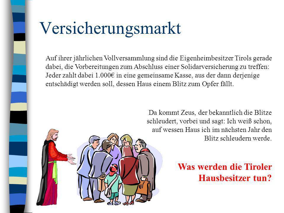 Versicherungsmarkt Auf ihrer jährlichen Vollversammlung sind die Eigenheimbesitzer Tirols gerade dabei, die Vorbereitungen zum Abschluss einer Solidar