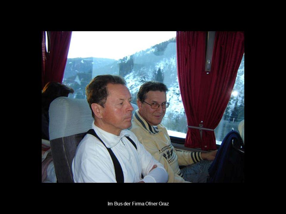 Im Bus der Firma Ofner Graz