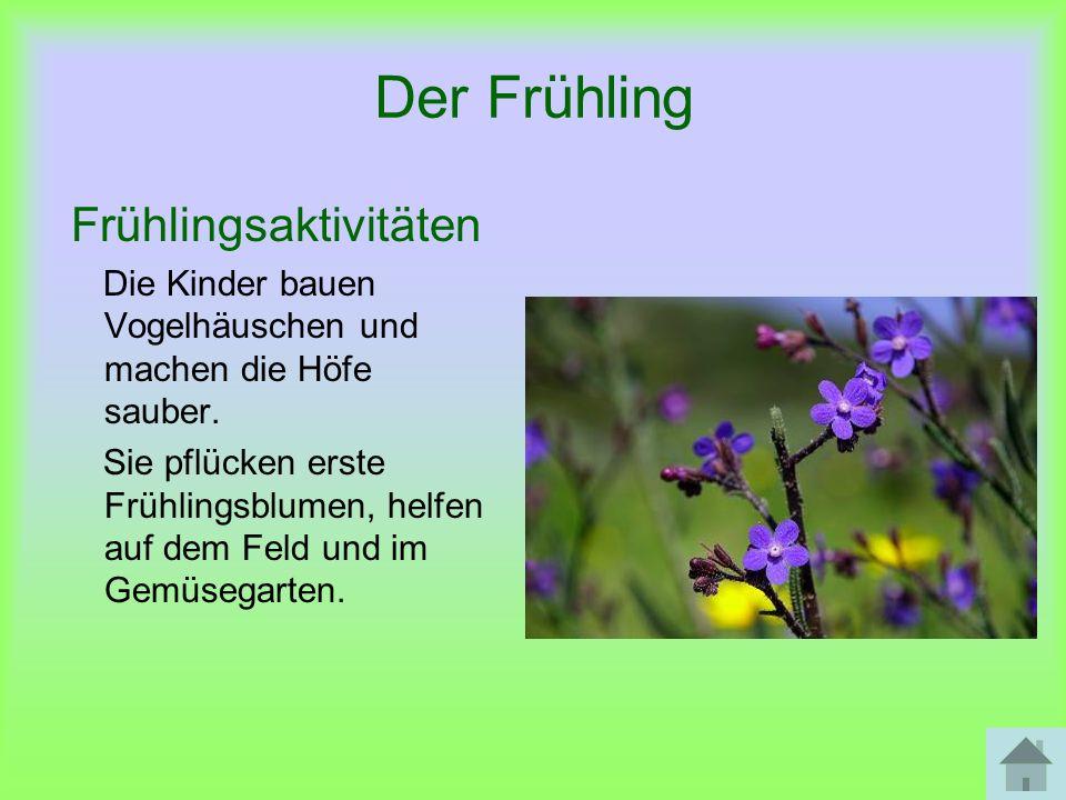 Der Sommer Das Wetter und die Natur Die Sommermonate heißen: Juni, Juli und August.