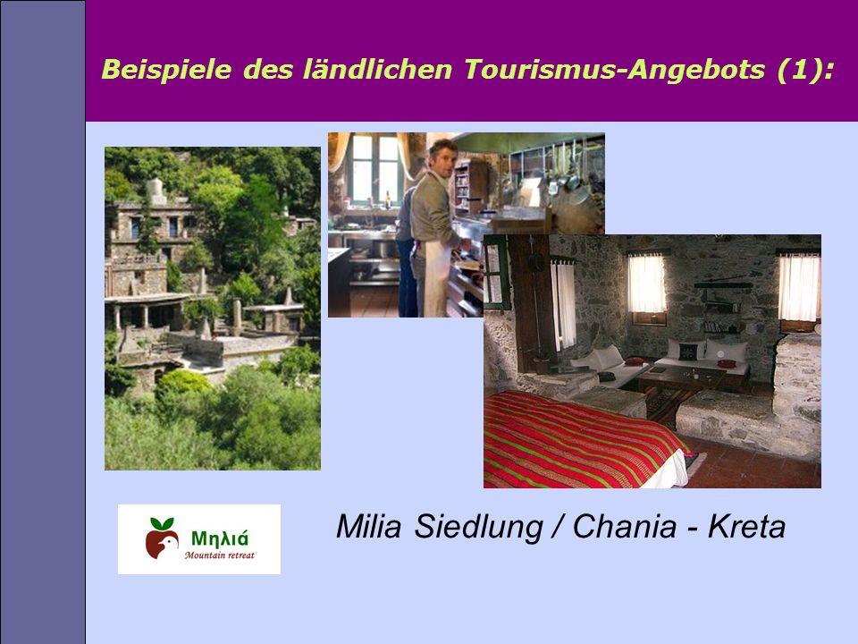 Beispiele des ländlichen Tourismus-Angebots (1) : Milia Siedlung / Chania - Kreta
