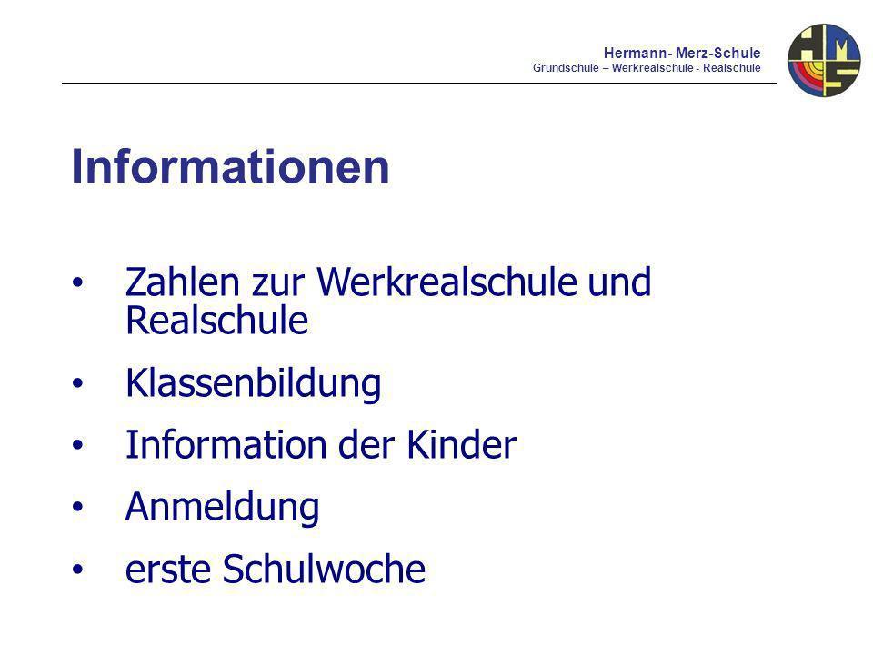 Informationen Elternbeirat Förderverein Offene Ganztagesschule Musikalisches Profil aktuelle pädagogische Schwerpunkte Hermann- Merz-Schule Grundschule – Werkrealschule - Realschule