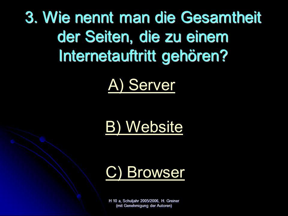 H 10 a, Schuljahr 2005/2006, H. Greiner (mit Genehmigung der Autoren) RICHTIG!!!!!