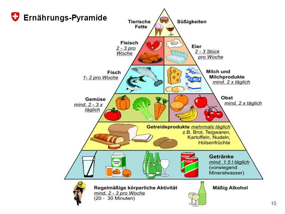 16 Schweizer Armee Logistikbasis der Armee LBA, San AGA San D 15 Ernährungs-Pyramide