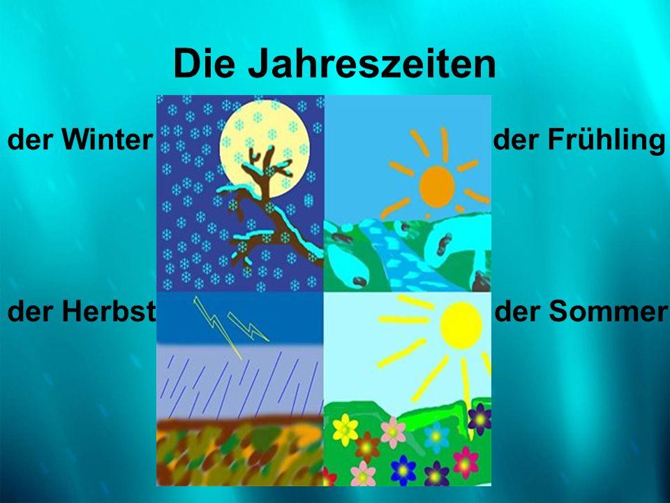 Die Jahreszeiten der Winter der Frühling der Herbst der Sommer