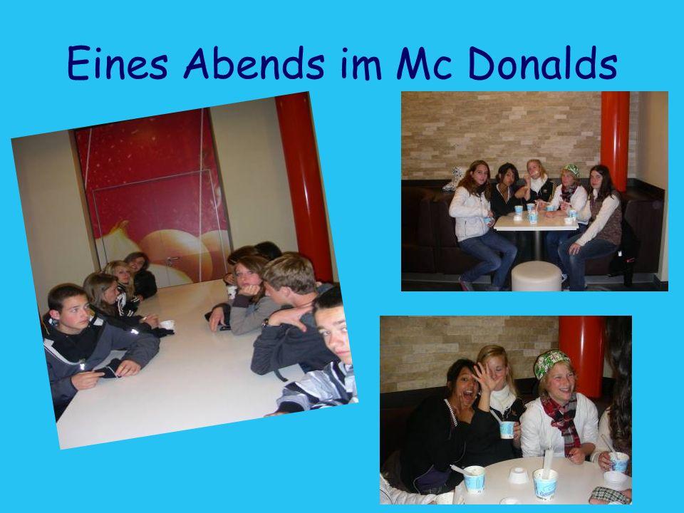 Eines Abends im Mc Donalds