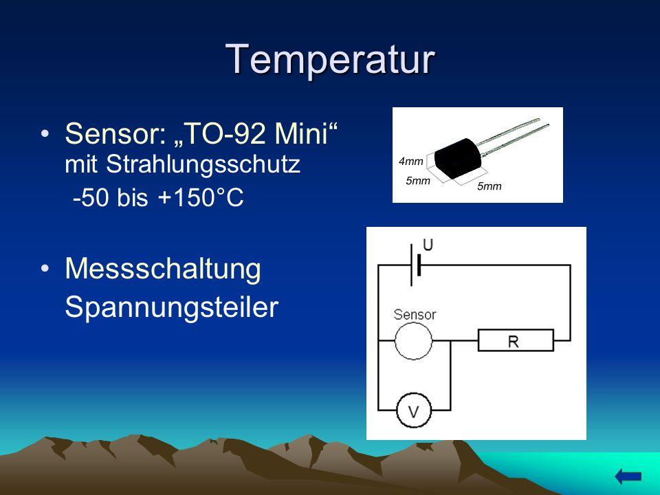 Luftfeuchtigkeit Sensor: MiniCap2 5 bis 95% rel.