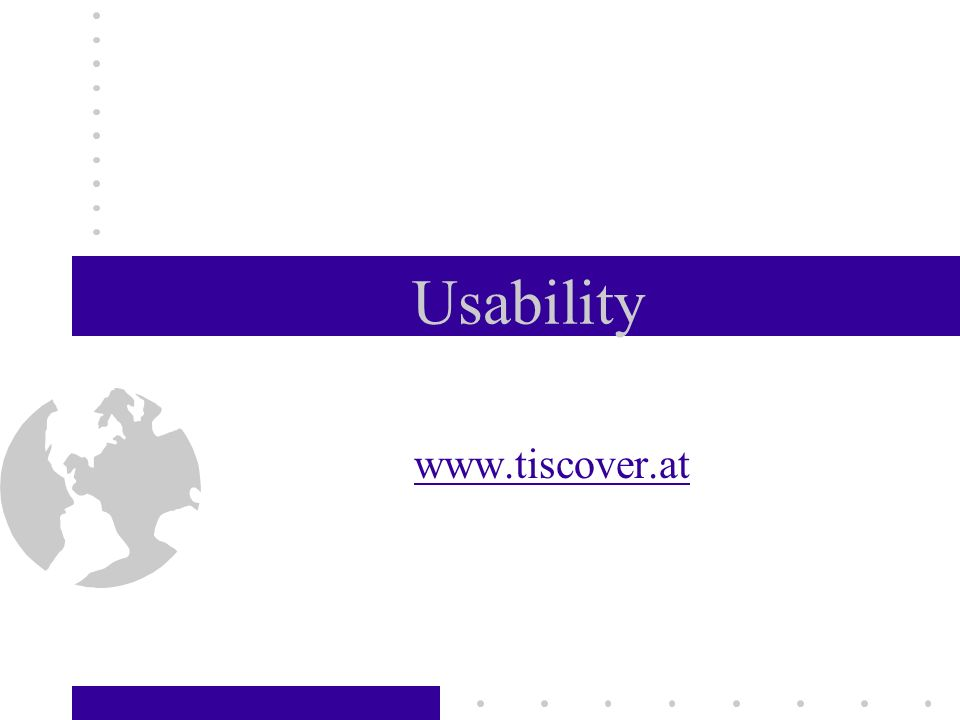 Usability www.tiscover.at