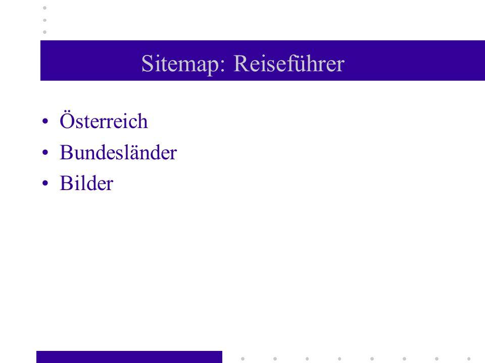 Sitemap: Reiseführer Österreich Bundesländer Bilder