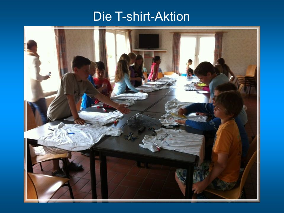 Die T-shirt-Aktion