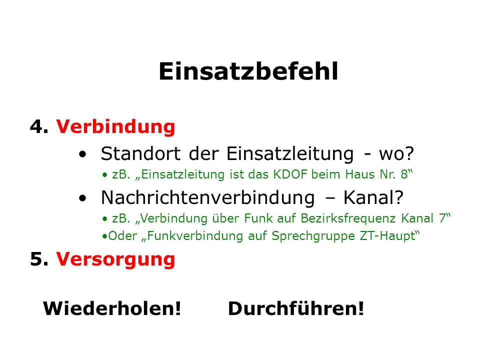 6) an FF A-Dorf 1.LAGE: 2.