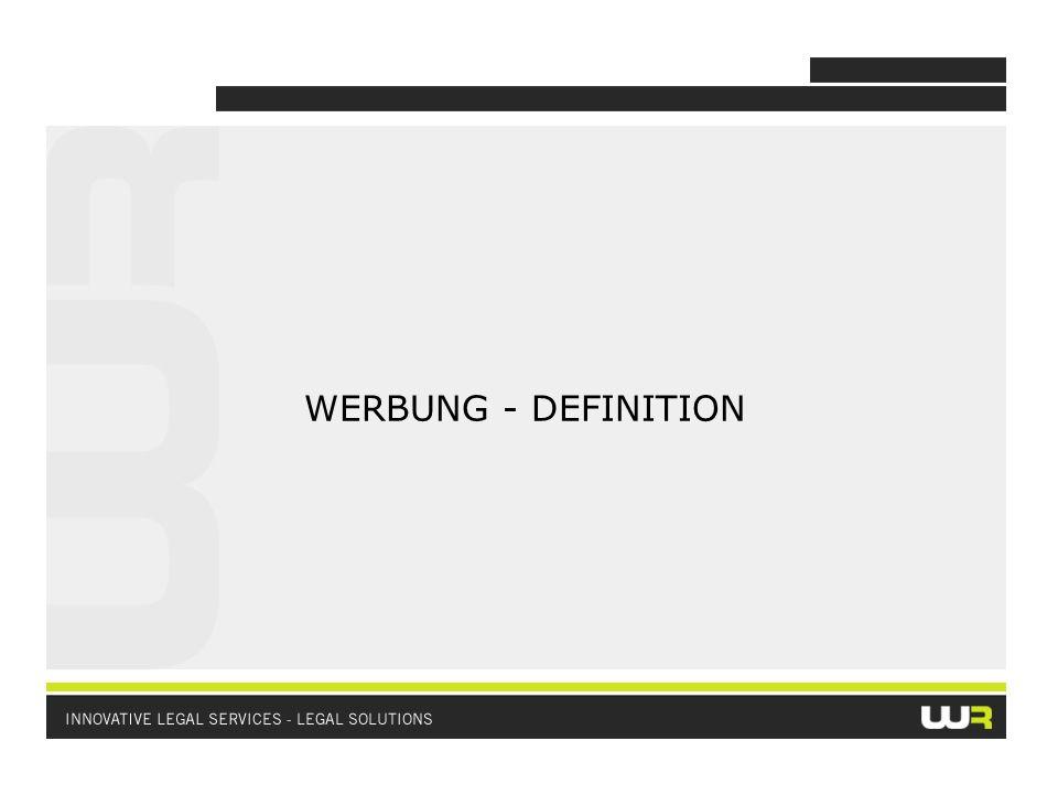 WERBUNG: (a) Kommerzielle Werbung; oder (b) Nicht kommerzielle Werbung