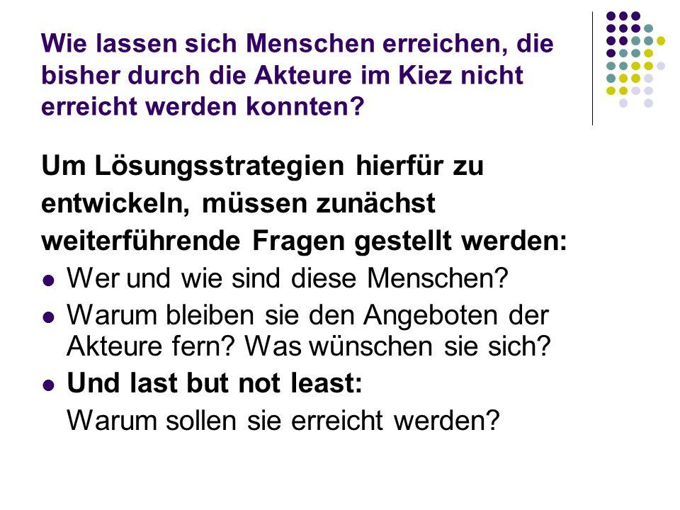 O-Töne zu Vereinen und Beratungsdichte Wohl in keinem anderen Kiez in Berlin ist die Dichte an Beratungsangeboten so hoch wie in Marzahn NordWest.