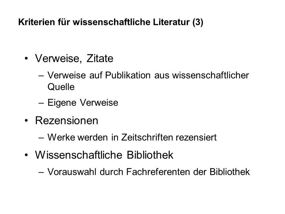 Internetverzeichnisse = Intellektuell angelegte Linksammlungen Akademische oder institutionelle Kataloge –geeignet für Forschungsinteressen Kommerzielle Kataloge –geeignet für persönliche Interessen