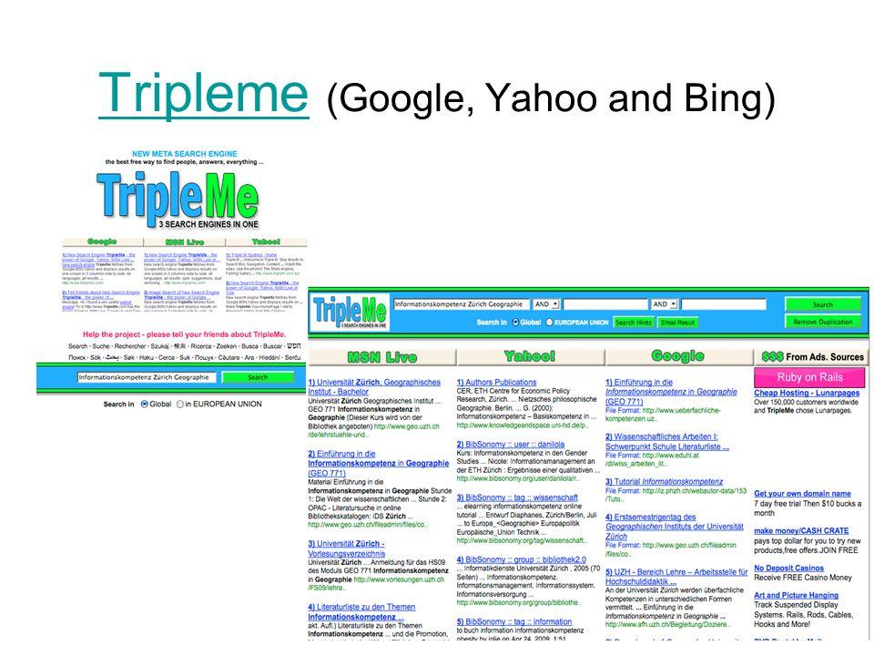 TriplemeTripleme (Google, Yahoo and Bing)