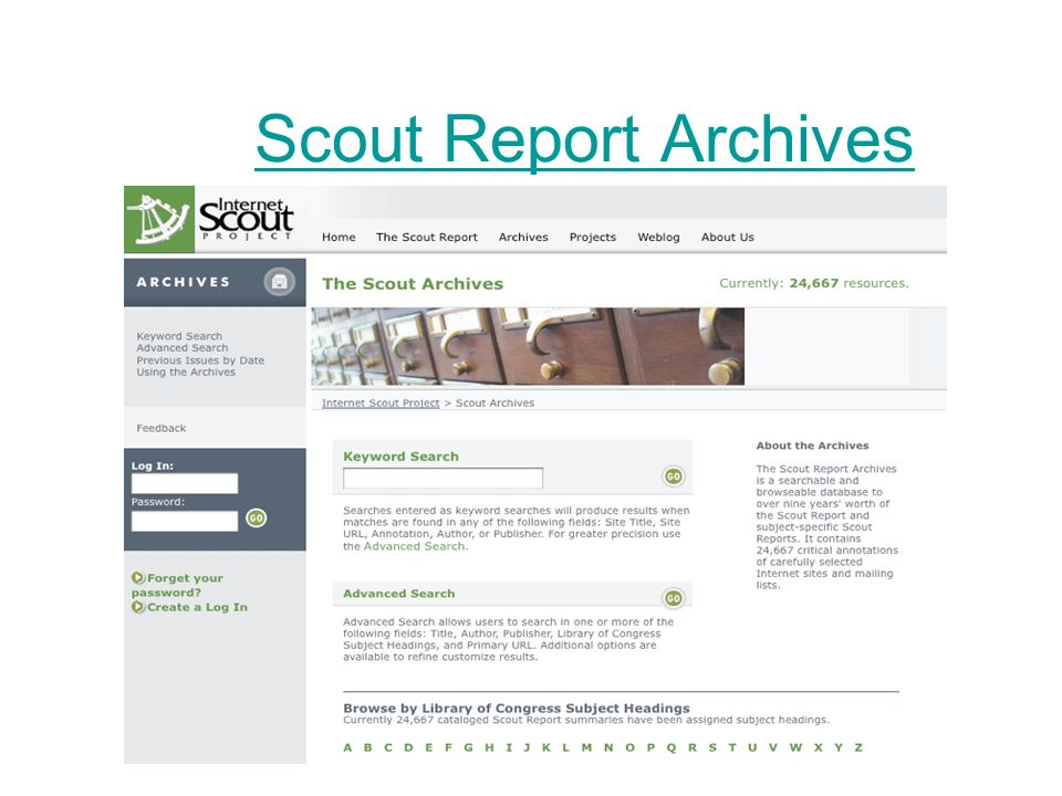 Scout Report Archives