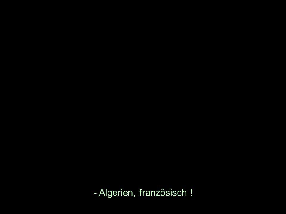- Algerien, französisch !