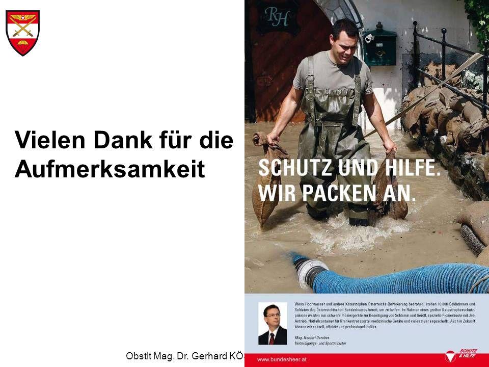 Obstlt Mag. Dr. Gerhard KÖSTNER MSD, Ltr Ref FüLuU Vielen Dank für die Aufmerksamkeit
