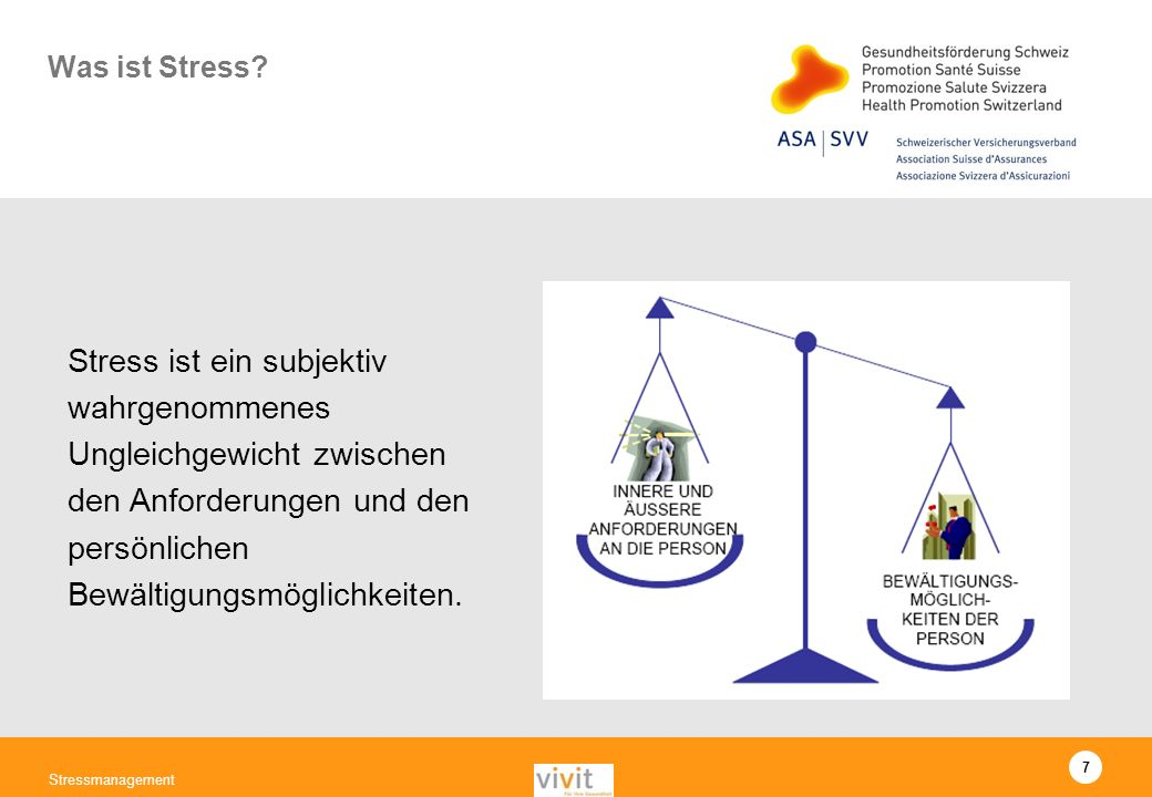7 Stressmanagement Was ist Stress.