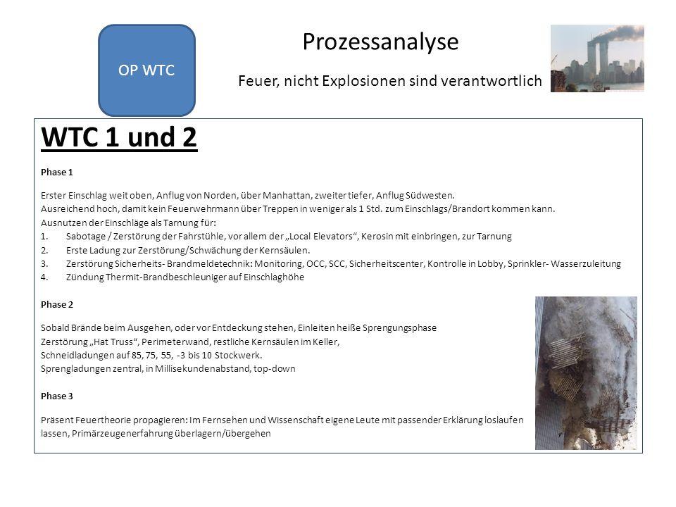 Vorbereitungsanalyse WTC 7 Phase 1 Gefährdungsanalysen und Pläne auf Grund Einrichtung OEM 1997 bekannt.
