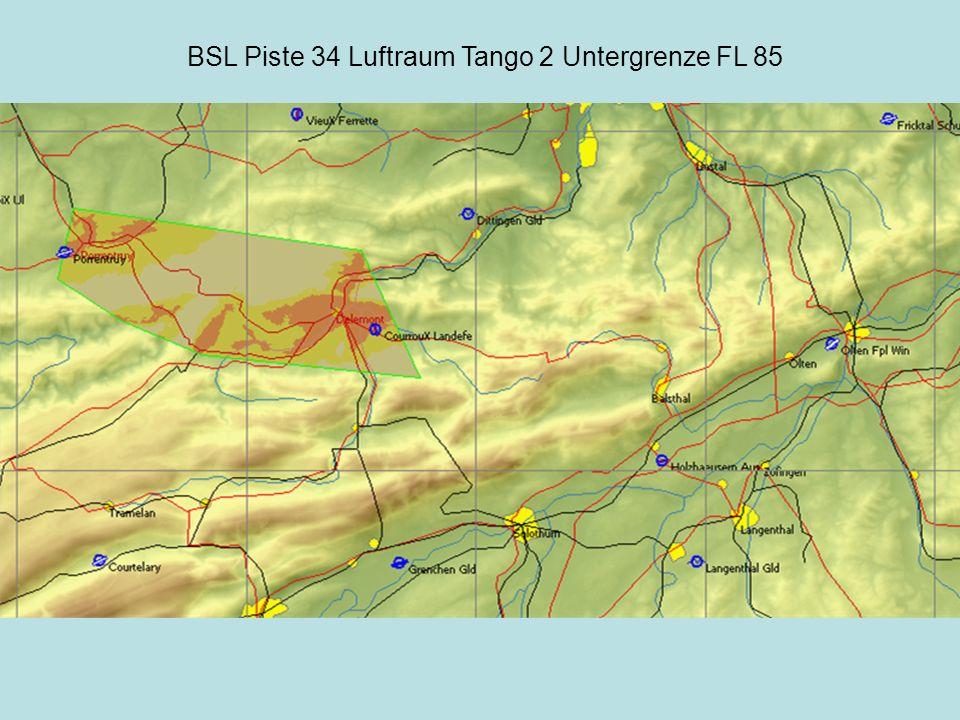 BSL Piste 34 Luftraum Tango 3 Untergrenze 5700 Ft.