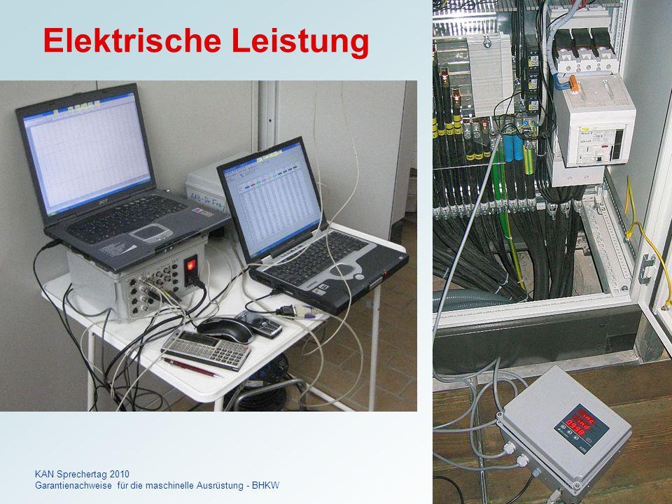 Dr. FREY KAN Sprechertag 2010 Garantienachweise für die maschinelle Ausrüstung - BHKW 17 Elektrische Leistung