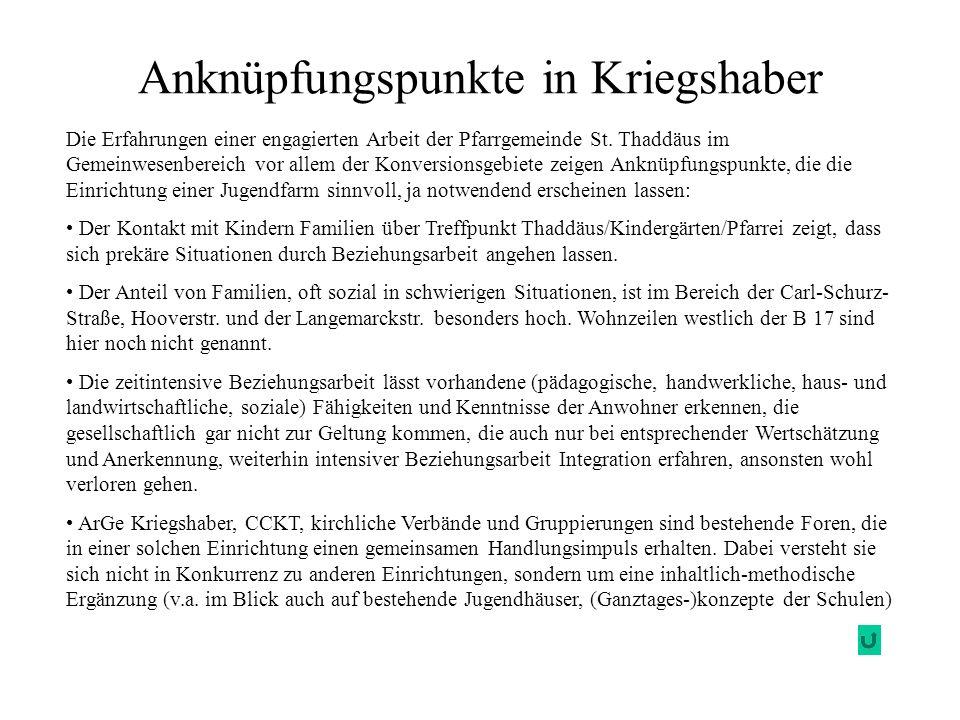 Anknüpfungspunkte in Kriegshaber Die Erfahrungen einer engagierten Arbeit der Pfarrgemeinde St. Thaddäus im Gemeinwesenbereich vor allem der Konversio