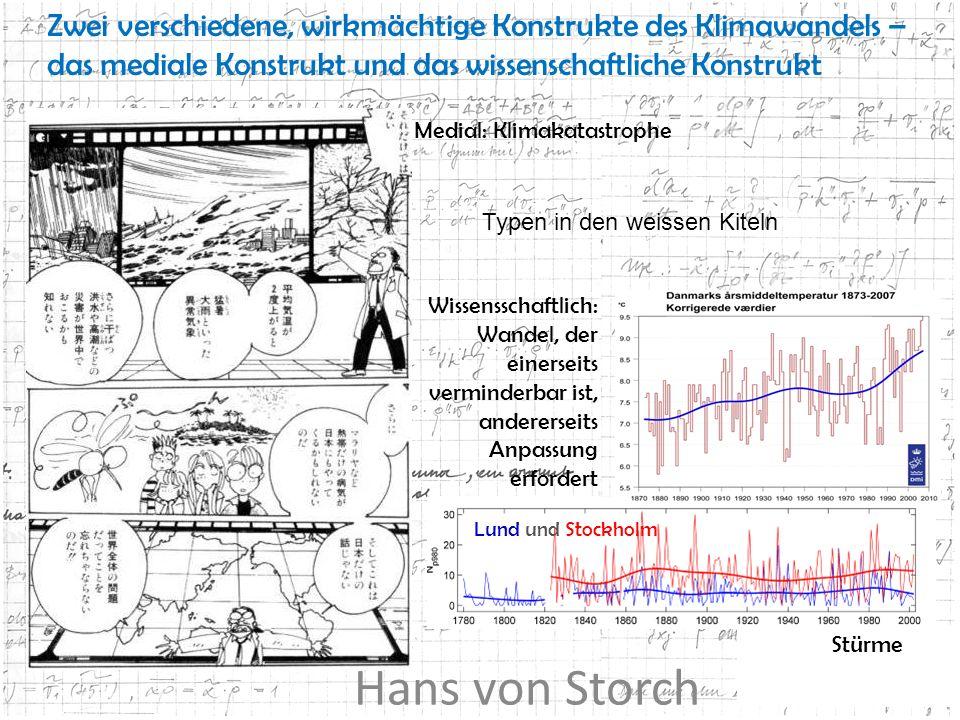 Lund und Stockholm Zwei verschiedene, wirkmächtige Konstrukte des Klimawandels – das mediale Konstrukt und das wissenschaftliche Konstrukt Medial: Kli