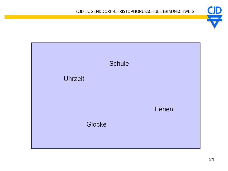 CJD JUGENDDORF-CHRISTOPHORUSSCHULE BRAUNSCHWEIG 21 Schule Uhrzeit Ferien Glocke