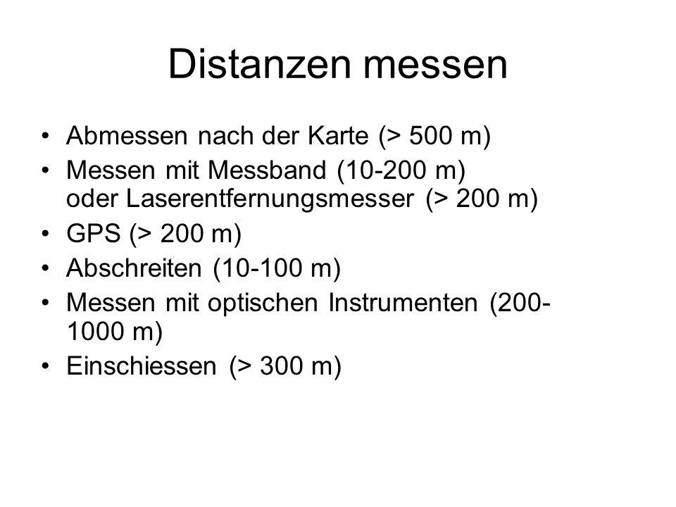 Abmessen nach der Karte Gemessene Distanz auf der Karte: 3,4 cm Massstab:1:50 000 Distanz ist:1700 Meter