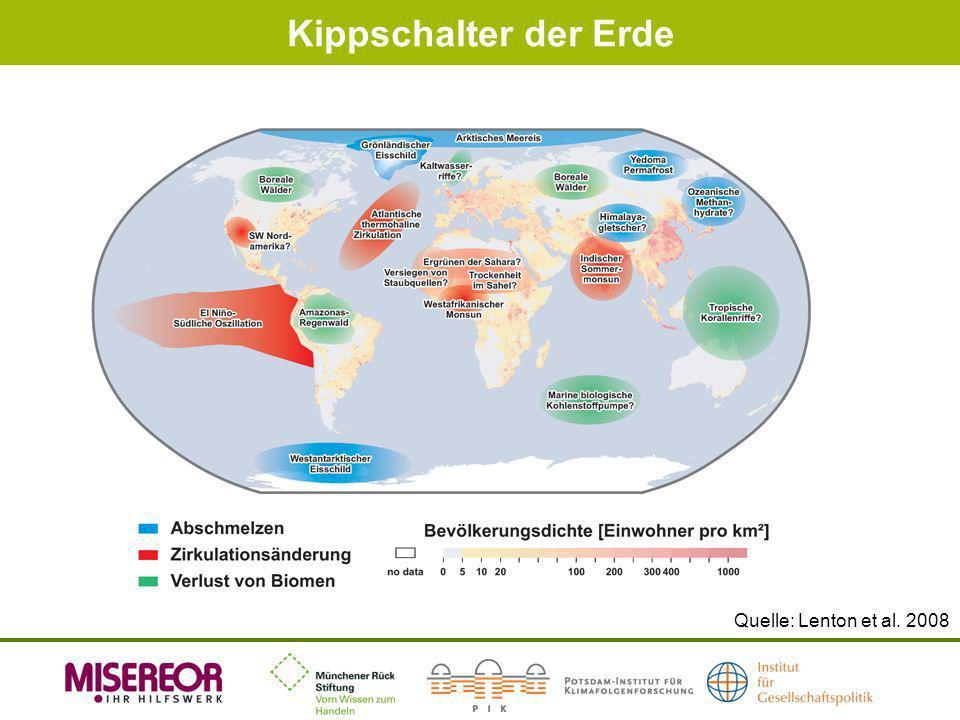 Kippschalter der Erde Quelle: Lenton et al. 2008