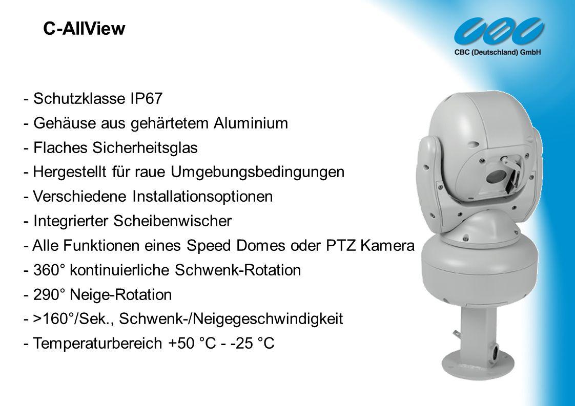C-AllView - Schutzklasse IP67 - Gehäuse aus gehärtetem Aluminium - Flaches Sicherheitsglas - Hergestellt für raue Umgebungsbedingungen - Verschiedene